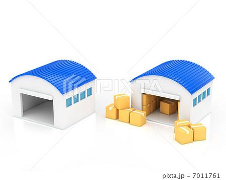 倉庫のイラスト素材 [7011761 ... : 電車のイラスト 無料 : イラスト