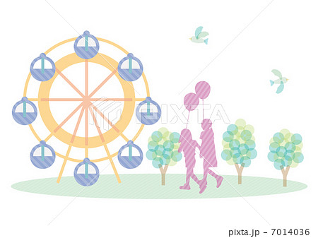 観覧車と子供のイラスト素材 7014036 Pixta