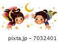 七夕 織姫 彦星のイラスト 7032401