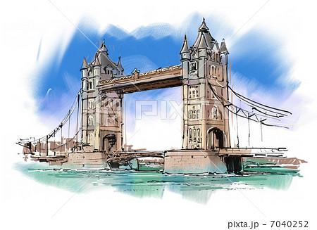 ロンドンタワーブリッジ 7040252