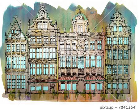 ベルギーの街並み 7041354