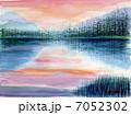 上高地の朝 スケッチ画 7052302