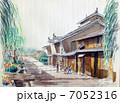 海野宿の水彩画 7052316