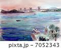 瀬戸大橋の朝のスケッチ画 7052343