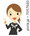 勝利のV 女子学生(セーラー服) 7057680