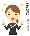 勝利のVサイン 女子学生(セーラー服) 7057684