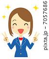 勝利のVサイン 女子学生(ブレザー) 7057686