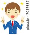 勝利のVサイン 男子学生(ブレザー) 7057687