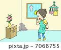 梅雨 女性 カビのイラスト 7066755