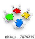 ビジネスマン 実業家 パズルのイラスト 7070249