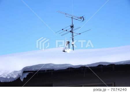 積雪とTVアンテナ 雪国のアンテナ 7074240