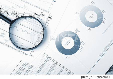 charts and graphs of salesの写真素材 [7092081] - PIXTA