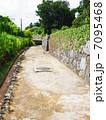 小道と石垣  7095468