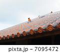 琉球瓦とシーサー 7095472