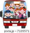 バスツアー 三世代 家族のイラスト 7105571