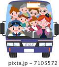 バスツアー 三世代 家族のイラスト 7105572