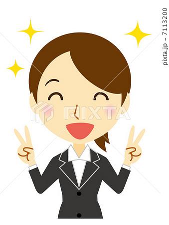 笑顔でピース 新人ビジネスウーマン 7113200