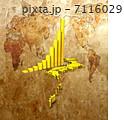 日本地図 金貨 グラフのイラスト 7116029