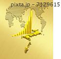 日本地図 金貨 グラフのイラスト 7129615