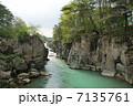 峡谷 厳美渓 川の写真 7135761