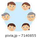 家族 顔 三世代 7140855