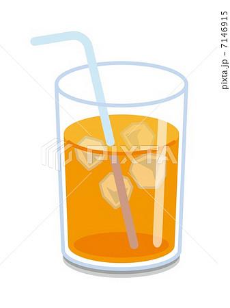 オレンジジュース氷入りのイラスト素材 7146915 Pixta