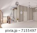 屋根裏 インテリア ロフトのイラスト 7155497