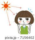 日焼け 紫外線 シミのイラスト 7156402