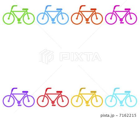 自転車のフレームのイラスト素材 7162215 Pixta