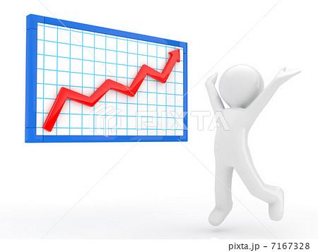 上昇グラフのイラスト素材 [7167...