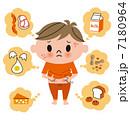 ベクター 食物アレルギー 発疹のイラスト 7180964