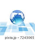 グローバル 世界地図 地球儀のイラスト 7243065
