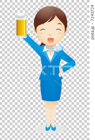Business woman (light blue) Illustration 7243724