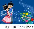 天の川 七夕祭り 織姫のイラスト 7244683
