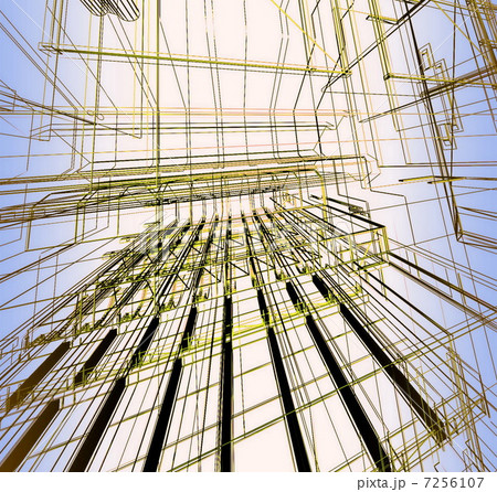 Abstract architectural 3D construction 7256107