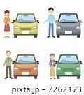ドライバー 乗用車 運転手のイラスト 7262173