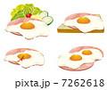 ハムエッグ 目玉焼き 食べ物のイラスト 7262618