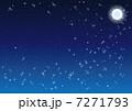 月 夜空 星のイラスト 7271793