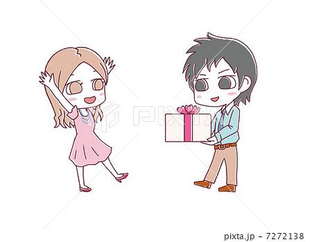 プレゼントをあげるのイラスト素材 7272138 Pixta