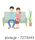 妊婦 男性 女性のイラスト 7273443