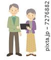 タブレット タブレットPC 夫婦のイラスト 7276882