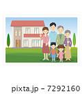 人物 親子 家族のイラスト 7292160