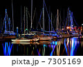 ヨットハーバー ヨット 夜景の写真 7305169