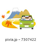 ドライブ 富士山 車のイラスト 7307422
