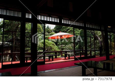 野点傘 日本間 日本家屋 座敷 緋毛氈 廊下 縁側 和室 7317978