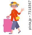 シニア 旅 旅行のイラスト 7318367