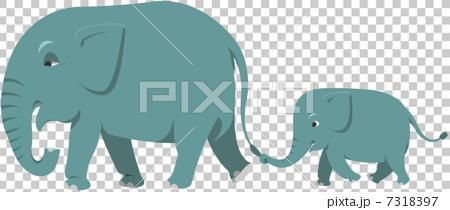 大象 亞洲象 家庭 7318397