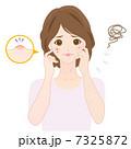 ニキビに悩む女性 7325872