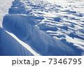 グレートスレイブ湖の雪原 7346795