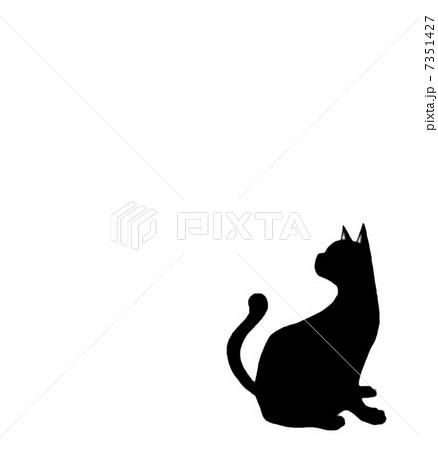 黒猫シルエットのイラスト素材 7351427 Pixta